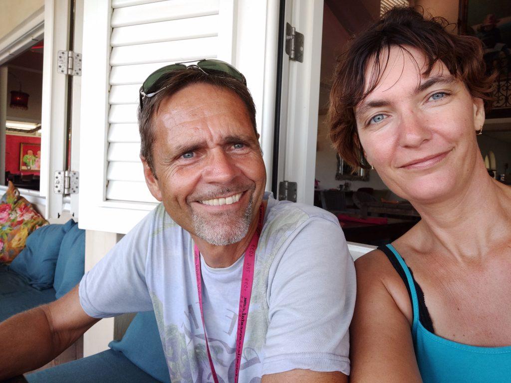Arend en Barbara, Nederlandse eigenaren Villa Topzicht Curaçao